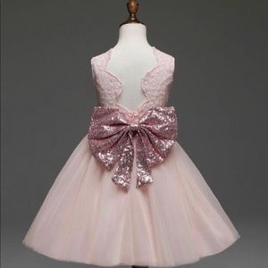 Other - New! Pink Sparkly Lace Tulle Party Dress - 4/5